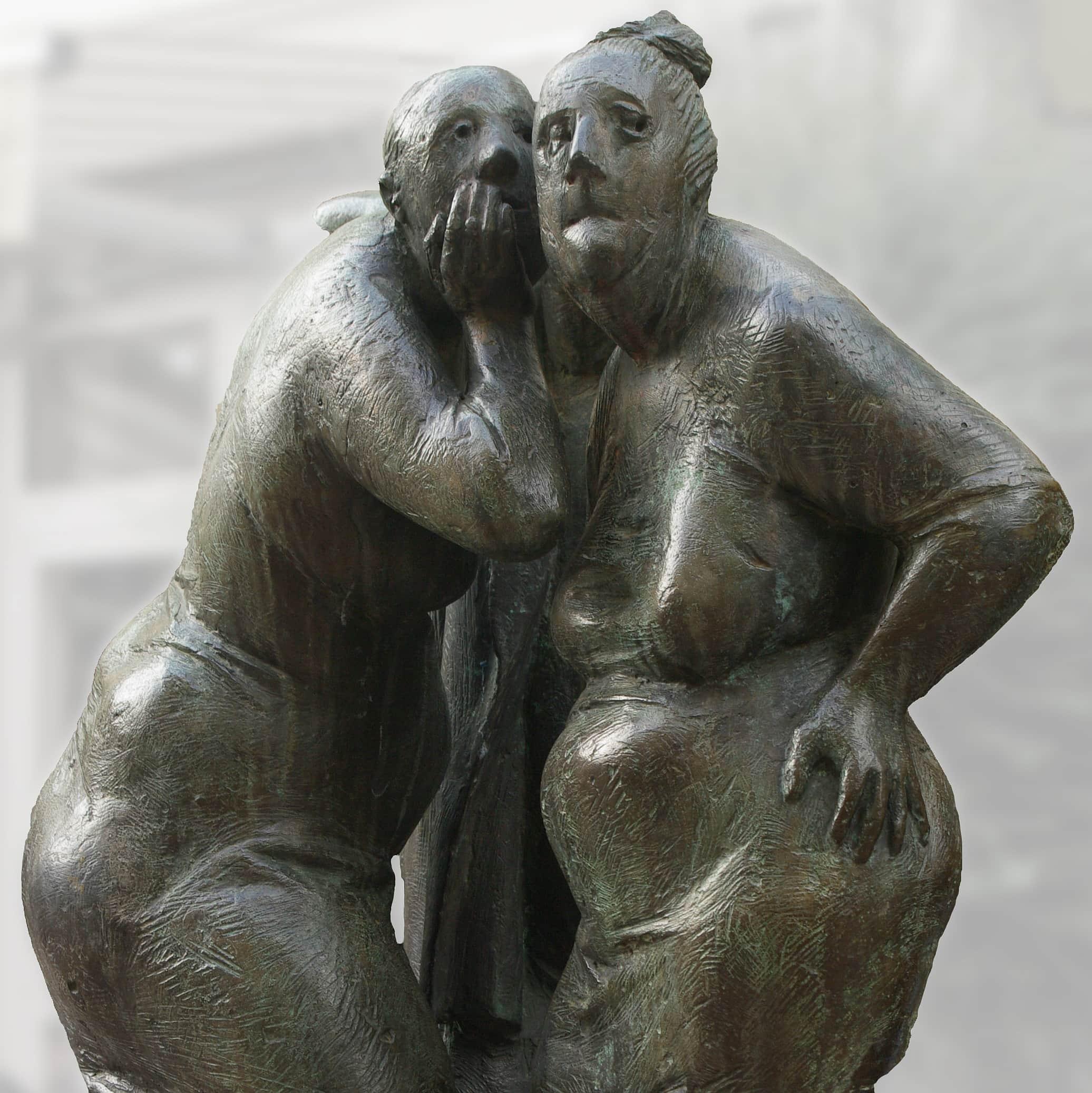 Skulptur Schwätzer von Karl-Henning Seeman